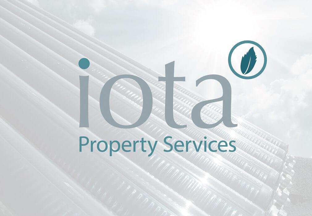 iota logos icon leaflet design