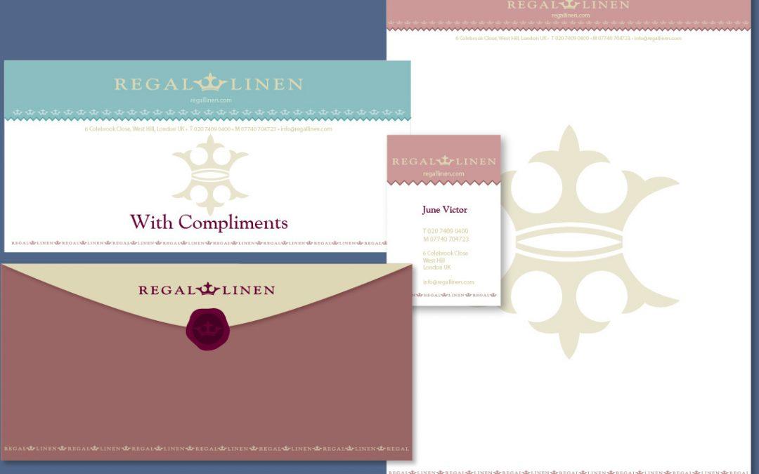 Regal linen logo design