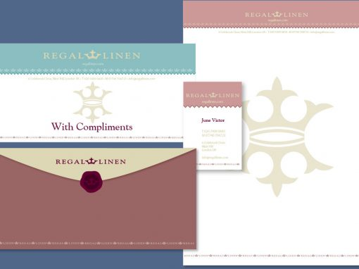 Regal linen logo design